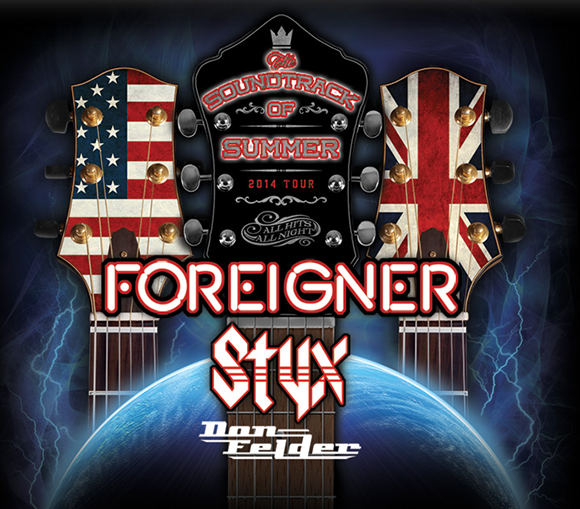 Styx, Foreigner: The Soundtrack of Summer Tour with guest Don Felder at Firstmerit Bank Pavilion