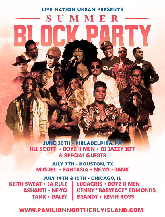 V103 Summer Block Party: Ludacris, Boyz II Men, Kenny Babyface Edmonds, Brandy & Kevin Ross at Huntington Bank Pavilion at Northerly Island
