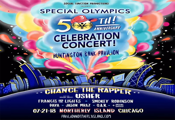 Special Olympics 50th Anniversary: Chance the Rapper, Jason Mraz, Smokey Robinson & O.A.R. at Huntington Bank Pavilion at Northerly Island